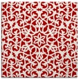 rug #983813 | square red geometry rug