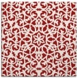 rug #983821 | square red traditional rug