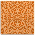 rug #983833 | square red-orange traditional rug