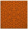 rug #983837 | square red-orange traditional rug