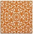rug #983841 | square red-orange damask rug