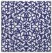 rug #983853 | square blue geometry rug