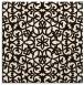 rug #983877   square brown damask rug