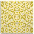 rug #983881 | square yellow damask rug