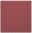 rug #983901 | square light-green damask rug