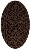 rug #983941   oval brown damask rug