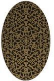 rug #983953 | oval brown damask rug