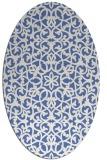 rug #983973 | oval blue damask rug