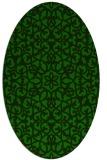 rug #983985 | oval green traditional rug