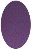 rug #984009 | oval pink geometry rug