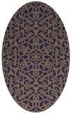 rug #984033   oval blue-violet damask rug