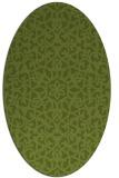 rug #984053 | oval green damask rug