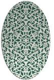 rug #984061 | oval damask rug