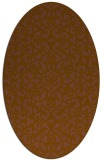 rug #984069 | oval brown damask rug