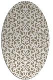 rug #984081   oval white geometry rug