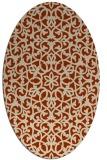 rug #984135 | oval damask rug