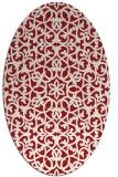 rug #984181 | oval red popular rug
