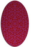 rug #984185 | oval red damask rug