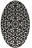 rug #984205 | oval white geometry rug