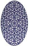 rug #984213 | oval blue damask rug