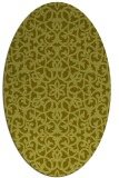rug #984253 | oval light-green rug