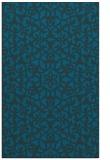 rug #984353 |  blue damask rug