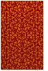 rug #984485 |  red-orange damask rug