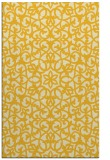 rug #984589 |  yellow damask rug