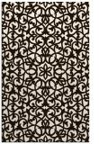 rug #984597 |  brown damask rug