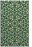 rug #984609 |  yellow damask rug