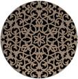 rug #984657 | round beige damask rug