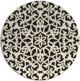 rug #984669 | round black rug