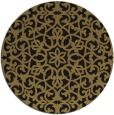 rug #984673 | round mid-brown damask rug