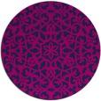 rug #984681 | round pink damask rug