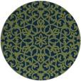 rug #984689 | round blue rug