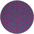 rug #984729 | round blue-green traditional rug
