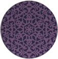 rug #984745 | round purple traditional rug