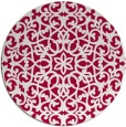 rug #984765   round red damask rug