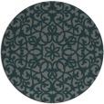 rug #984777 | round green damask rug