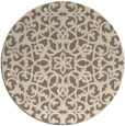 rug #984797 | round mid-brown traditional rug