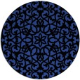 rug #984817 | round black damask rug