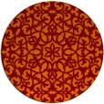 rug #984845 | round red-orange damask rug