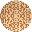 rug #984849 | round orange damask rug