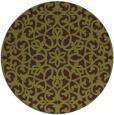 rug #984881 | round green damask rug