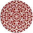rug #984893 | round red damask rug
