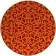 rug #984897 | round red damask rug
