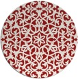 rug #984901 | round red traditional rug