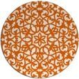 rug #984921 | round red-orange damask rug