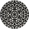 rug #984925 | round black damask rug