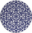 rug #984933 | round blue traditional rug